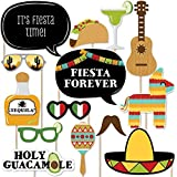 Mexican Fiesta - Mexican Themed Photo Booth Props Kit - 20 Count [並行輸入品]