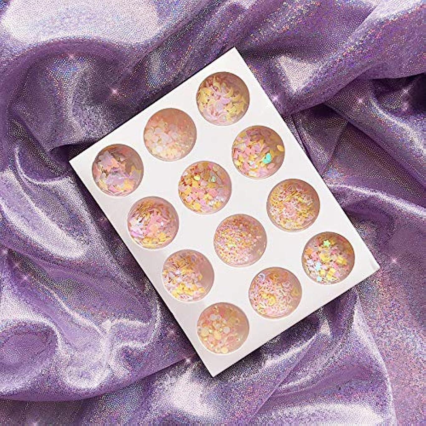病的衝突壁紙12種類 可愛い DIYネイルアート グリッター 封入素材 アイメイク 装飾品 ネイルパーツ グリッター キラキラ