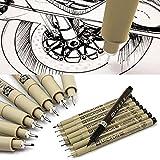 8 台の PC サクラ Pigma ミクロンのラインペン 005 01 02 03 04 05 08 ブラシアート用品。 xx : 300-004-870 # HUGTY 46726