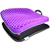 HANCHUAN Gel Seat Cushion Thick Chair Cushion Breathable Cushion Pad Gel Sits Pad - Tailbone, Lower Back Pressure Sore Relief