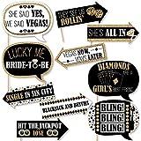 Funny Vegas前Vows – ラスベガスブライダルシャワーまたは独身パーティー写真ブース小道具キット – 10 Piece