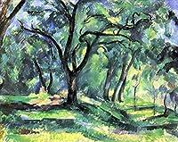 ¥5K-200k 手書き-キャンバスの油絵 - 美術大学の先生直筆 - 15 名画 - フォレスト 1890 Cezanne ポール・セザンヌ 風景 木 - 絵画 洋画 手描複製画 -07