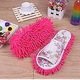 Sungpunet Women Dust Mop Slippers Socks Microfiber House Swab Swob Slippers Bedroom Shoes Cleaning Tool