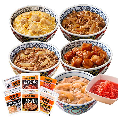 吉野家 [新・大人気セット] 冷凍便 (牛丼 / 豚丼 / 焼肉丼 / 親子丼 など11袋)