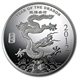 15.5グラム 純銀 2012年 アメリカ「 干支・龍・ドラゴン 」1/2オンス 銀貨 シルバー メダル コイン インゴット 銀塊 高級アクリルカプセル・クリアーケース付き