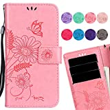 LEMORRY Huawei P10 Lite Case Leather Flip Wallet Pouch Slim Fit Bumper Protection Magnetic Strap Stand Card Slot Soft TPU Cover