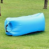 樂裳®屋外ポータブルインフレータブル寝袋をお手玉, ブルー