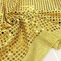 スパンコール 生地【ゴールド】コスプレなどの衣装・コスチューム作り、装飾などにオススメです。 布 布地 手芸【1m単位】