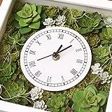 A plus floral art インテリアグリーン 壁掛け 時計 多肉時計 ボタクロック フェイクグリーン 観葉植物 造花 壁掛け