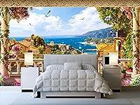 Weaeo カスタム壁画3D部屋の壁紙ヨーロッパの海の家の装飾の絵画の壁3Dの壁の壁画の壁紙3D-400X280Cm