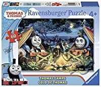 Ravensburger Thomas and Friends: Thomas Camps Glow-in-the-Dark Giant Floor Puzzle (60 Piece) [Floral] [並行輸入品]