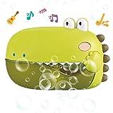 REMOKING Baby Bubble Bath Toys,Automatic Dinosaur Bubble Machine with 12 Nursery Rhymes,Fun Toddler Bath Time Toy for Bathtub