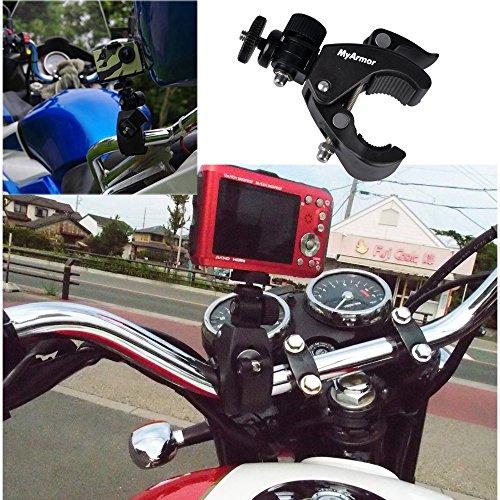 『MyArmor カメラホルダー カメラスタンド オートバイ・バイク・自転車 ハンドルに カメラ/GoPro/デジカメ/ドライブレコーダー を 固定 自由雲台 三脚 はさみ込式 (カメラマウントのみ)』の3枚目の画像