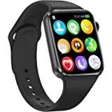 Smart Watch for Android IOS Phones Compatible with iPhone Samsung, HCHLQL Touch Screen Fitness Tracker Smartwatch with Advanc