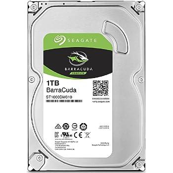 Seagate BarraCuda 1TB【 2年保証  】正規代理店 3.5インチ HDD 内蔵 ハードディスク SATA 6Gb/s 64GB 7200rpm デスクトップPC向け
