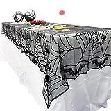 B-PING ハロウィン 飾り テーブルクロス  ブラックレース 蜘蛛の巣 舞台の飾り 手芸 アクセサリー カーテン 室内 暖炉
