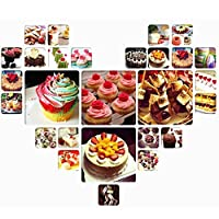 3pcs Fondant Sugarcraft Rose Mould Cake Mold Cookie Cutter Flower 771776823505