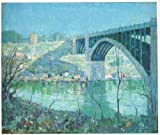 Spring Night , Harlem river-lawson – キャンバスまたはFine印刷壁アート Gallery Wrap - 36 x 54