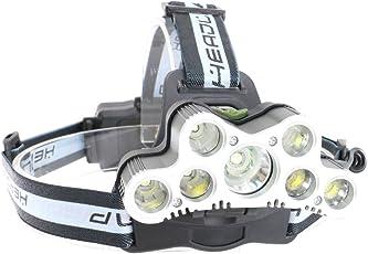 Lightess LED ヘッドライト 超高輝度 9000ルーメン 防水 充電式 led ヘッドランプ 7灯式 6つの照明モード 角度調整可 SOS機能 登山 夜釣り アウトドア作業