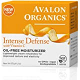 Avalon Organics Intense Defense with Vitamin C, Oil-Free Moisturizer 2 oz (Pack of 3)