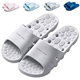 Finleoo Massage Shower Slippers with Drainage Holes Quick Dry Sandal Bathroom Slippers Gym Slippers Sole House Slippers for M