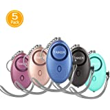 Personal Alarm for Women, 5 Pack 140DB Emergency Self-Defense Security Alarm Keychain with LED Light for Women Kids and Elder
