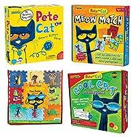 Becker's School Supplies Pete The Cat Puzzle & Games Set,(Set of 4) [並行輸入品]