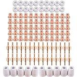 100個セット プラズマ カッター ノズル プラズマカッター 消耗品 切断機 トーチ ノズル カップ チップ 溶接機 切断 空気 CUT40 CUT50 PT31 L-G40
