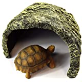 OMEM 爬虫類 シェルター 亀の浮島 水槽隠れ家 岩 カメシェルター 両生類用品