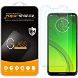 (2 Pack) Supershieldz for Motorola (Moto G7 Power) Tempered Glass Screen Protector, Anti Scratch, Bubble Free