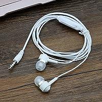 Gederq - マイクケーブルEcouteur EscutadorとPC携帯電話ヘッドセット用マイク音楽ヘッドフォンとイヤホンコンピュータの3.5ミリメートル [白]
