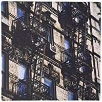 3dRose LLC 8 x 8 x 0.25 Inches Mouse Pad, New York City, Fire Escapes of A Manhattan Building, Susan Pease (mp_93141_1) [並行輸入品]