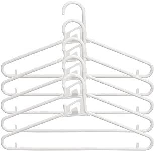 サワフジ 衣類ハンガー ホワイト アライール クイックハンガー (日本製) NQM-05A 5本セット