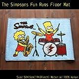 【The Simpsons】シンプソンズ フロアマット(ROCK STARS-BLUE)