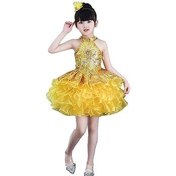 ea65f23bedb39 スパンコール ダンス衣装 ワンピース 衣装 ドレス チュチュスカート 子供 キッズ 女の子 ダンス衣装 ワンピース ジュニア ラテン