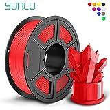 SUNLU PLA 3Dプリンター用フィラメント、1kg 1.75mm PLAフィラメント、精度 +/- 0.02mm、3Dプリンター3Dペン用(赤い色)