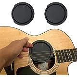 サウンドホールカバー ギター 弱音器 ミュート 消音 夜間練習 フィードバック防止 ホールカバー大 2個セット