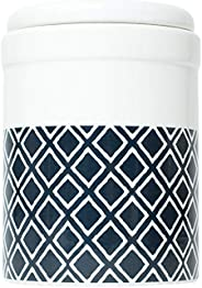 MOG & BONE Ceramic Treat Canister Navy Ikat Print