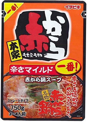 イチビキ ストレート赤から鍋スープ1番 750g×2個