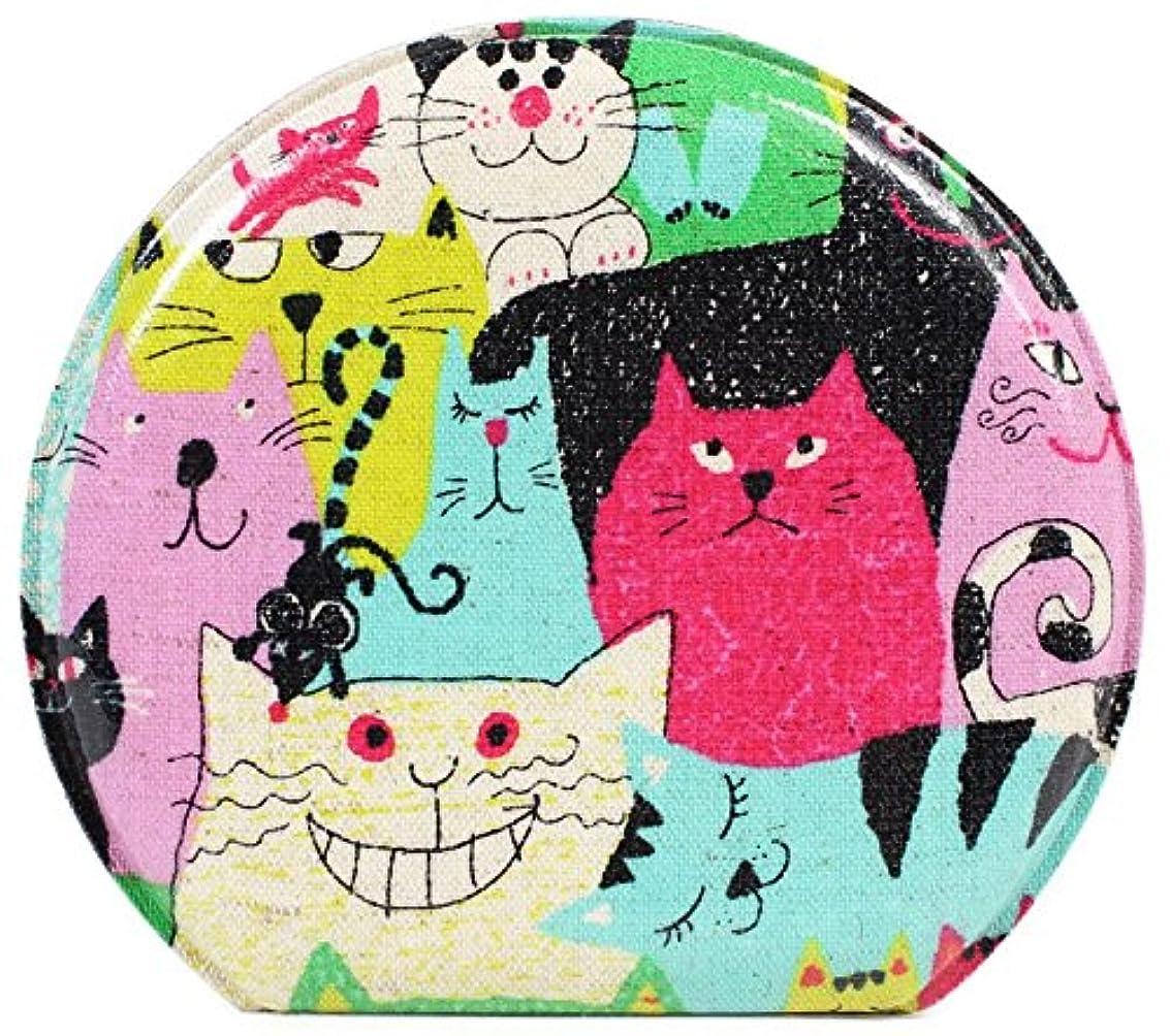 セーブトランジスタギャラントリーコージカンパニー コンパクトミラー 折りたたみ式 猫 幅12cm 高さ10.5cm Mサイズ マルチ 185806