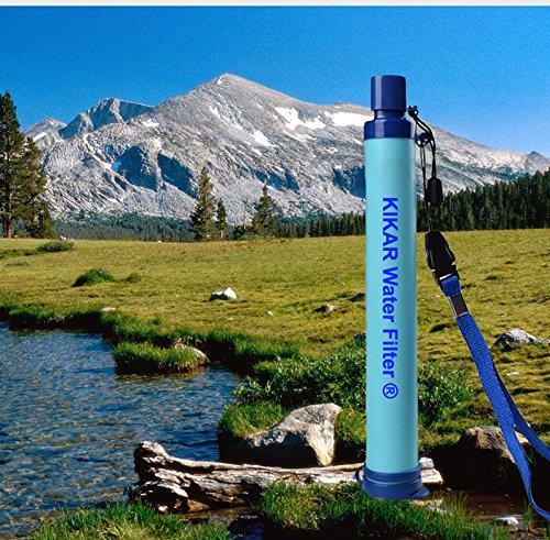 [Kikar] [携帯型浄水器 汚染物質を99%を除去する ...