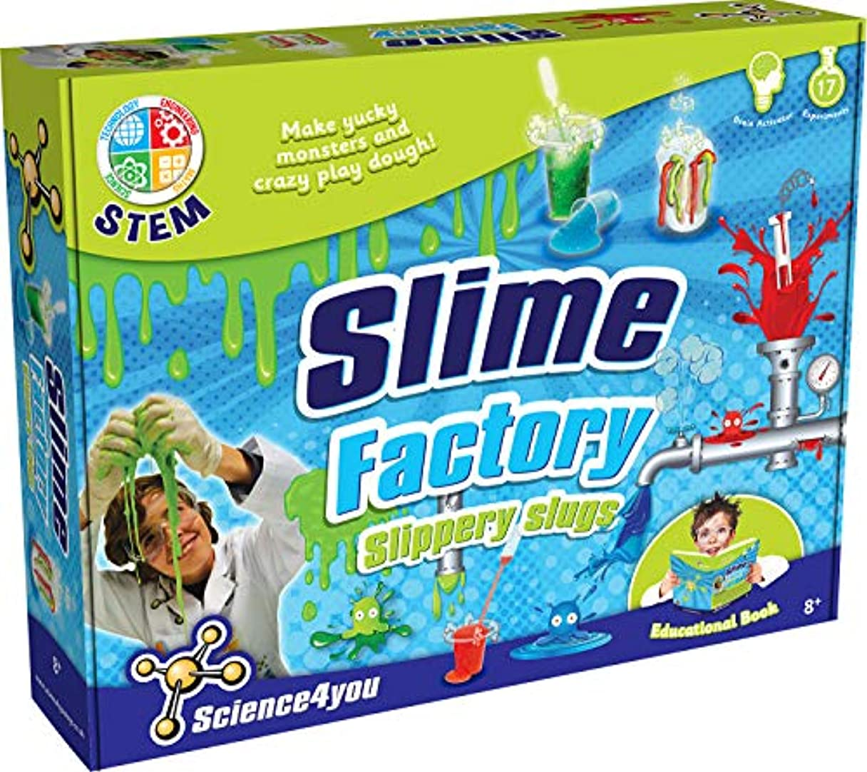 マーク超高層ビル先駆者Science4You Slimy Factory - Slippery Slugs - Create Yucky Ooze and Silly Balls STEM Toy by KSM Toys