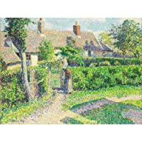 Pissarro Peasants Houses Eragny Extra Large Art Print Wall Mural Poster Premium XL 家大アート壁ポスター