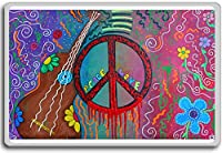 Hippie Peace And Love - motivational inspirational quotes fridge magnet - ?????????