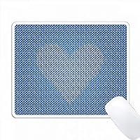 ロイヤルブルースクエアニットエフェクトグラフィックに白いニットエフェクトハート PC Mouse Pad パソコン マウスパッド