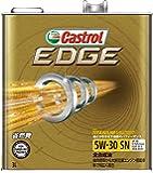 CASTROL(カストロール) エンジンオイル EDGE 5W-30 SN/CF/GF-5 全合成油 4輪ガソリン/ディーゼル車両用 3L [HTRC3]