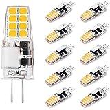G4 LED Bulb 3W Equivalent to 20W-25W T3 JC Type Bi-Pin G4 Base Halogen Bulb, AC/DC 12V Warm White 3000K G4 Light Bulb for Puc