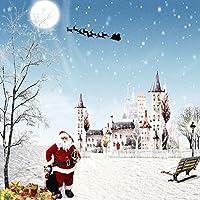 GladsBuy Merry Xmas 10' x 10'デジタル印刷写真バックドロップクリスマステーマ背景yhb-266