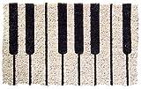 Entryways Piano Hand Woven Coir Doormat, 18 by 30-Inch ドア マット 鍵盤 ピアノ ケンバン 楽器