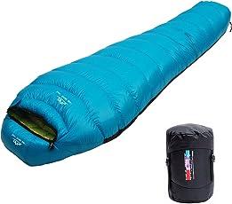 LMR寝袋 マミー型 高級ダウンシュラフ 防水 軽量 アウトドア 車中泊 登山 キャンプ用品【ダウン1500g 最低使用温度-25℃】